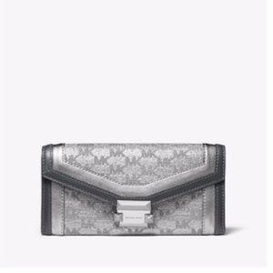 Michael Kors Whitney Large Metallic Logo Wallet